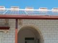 Pergola mod. 150 con pannelli fotovoltaici e gronda