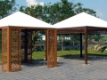Pagoda con griglia verticale