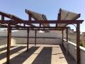 Pergola piana mod. 150 con supporti per pannelli fotovoltaici